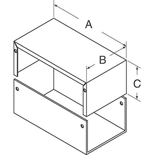 BOX ALUM GRAY 6.99''L X 4.99''W, (Pack of 10) (1411Q)
