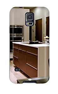 Galaxy High Quality Tpu Case White And Dark Wood Kitchen Island Case Cover For Galaxy S5