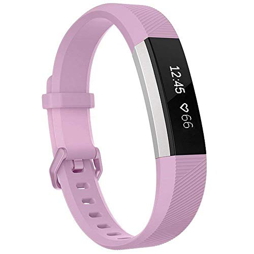 Henoda Compatible with Fitbit Alta/Fitbit Alta HR Bands, Small Lila Soft Replacement Band Adjustable Sport Strap Compatible for Fitbit Alta/Fitbit Alta HR/Fitbit Ace Fitness ()
