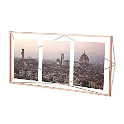 Umbra Prisma Multi Picture Frame - Photo Display for Desk or Wall, Copper