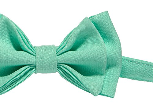 Baby Toddler Boy Men's Bow Tie Pre-tied - Made in USA (Boy (18 mo - 12 yrs), Mint)