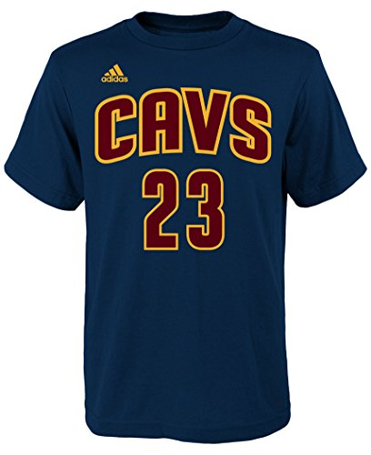 Lebron James Youth Cleveland Cavaliers Navy Name and Number Jersey T-shirt X-Large 18-20