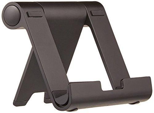 (AmazonBasics Multi-Angle Portable Stand for iPad Tablet, E-reader and Phone - Black)