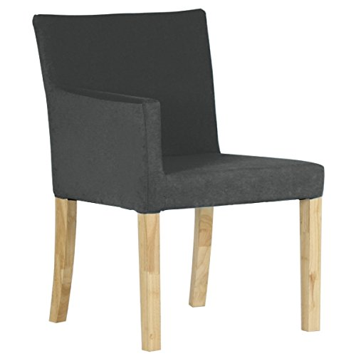 arne ダイニングチェア 北欧 木製 椅子 チェアー 背もたれ 日本製 JOY 【Sサイズ】【右肘タイプ】【ナチュラル脚】 モダン グレー B07436KDQD Sサイズ/右肘タイプ|グレー グレー Sサイズ/右肘タイプ