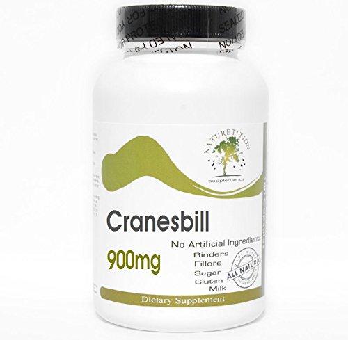 (Cranesbill 900mg ~ 180 Capsules - No Additives ~ Naturetition)