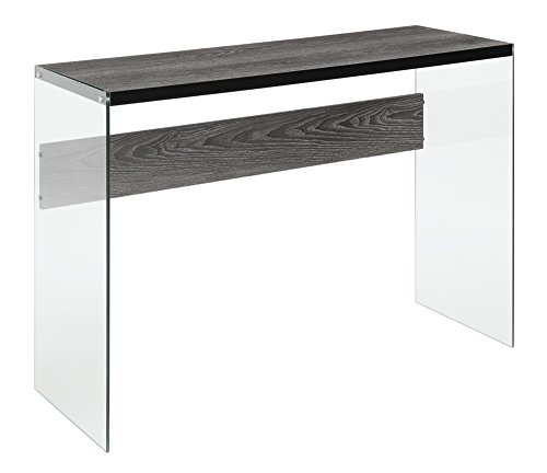 Convenience Concepts Soho Console Table, Weathered Gray