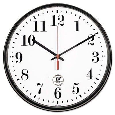 Chicago Lighthouse Slimline Atomic Wall Clock, Black, (Black Atomic Slimline Wall Clock)