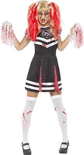 Satanic Cheerleader Costume Black Large (uk Dress (Halloween Cheerleader Costume Uk)