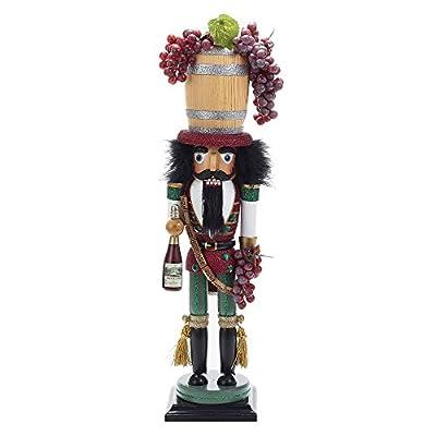 Kurt Adler 18.9 in. Hollywood Wine Barrel Hat Nutcracker