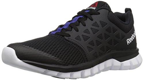 Reebok Women's Sublite XT Cushion 2.0 WS MT Walking Shoe, Blue Black/Pigment Purple/White