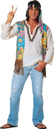 Hippie Male Adult Costume (Standard)