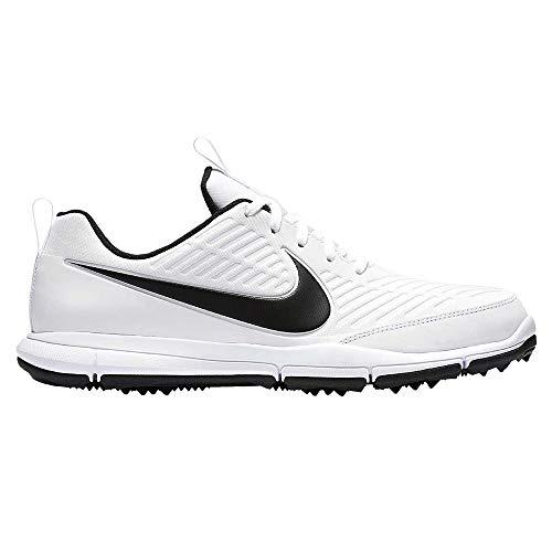 Nike Men's Explorer 2 Golf Shoe, White/Black, 12 M US