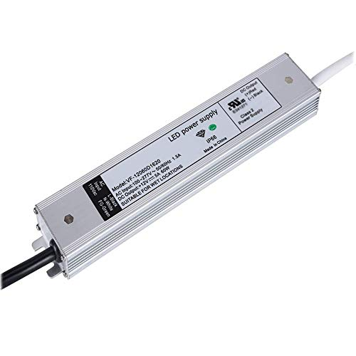 [ UL Listed ] Ultra-Thin 12V Power Supply Low Profile, IP67 Waterproof 60W AC/DC LED Adapter, 12V DC LED Driver, 12V Transformer, LED Converter, 12V 5A Power Supply ()