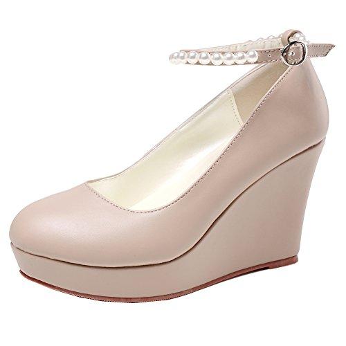 getmorebeauty Women's Wedge Mary Jane Diamonds Party Dress High Heel (5 B(M) US, ()