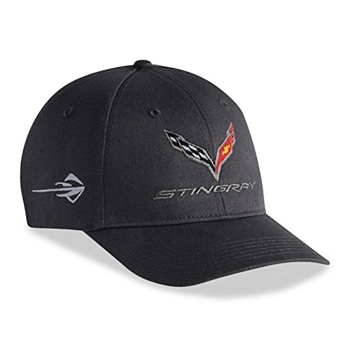 (C7 Corvette Stingray - Chino Cap Embroidered : Charcoal )