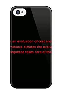 1428403K44856771 Iphone 4/4s Case Cover - Slim Fit Tpu Protector Shock Absorbent Case (always Sometimes Monsters)