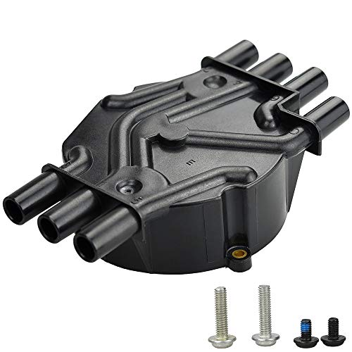 MegaFlint Ignition Distributor Cap fits Chevy EXPRESS 1500 GMC JIMMY Olds 1996-2007 4.3L V6 Rotor D465 10452457 10452458 D328A DR475T