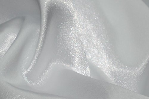 Crepe Back Satin Bridal Fabric WHITE Drapery Soft WIDE 30 YARD Roll WHOLESALE (Wholesale Crepe Back Satin)
