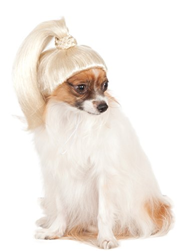 Pet Wig Blonde Ponytail,