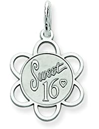 Sterling Silver Sweet Sixteen Disc Charm Birthday