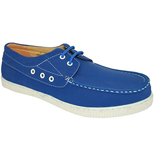 Schoenartiesten Blauw Nubuck Leer Look Bovendeel Heren