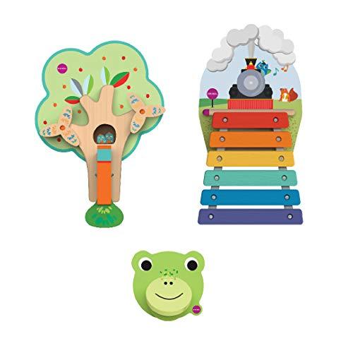 - ORIBEL VertiPlay Wall Toys Nursery Combo Set (Woodpecker, Xylophone, Door Knocker)