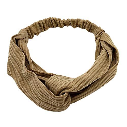 Elastic band width side change cross headscarf lady twisted solid color headband elastic wrap headband hair band MEEYA -