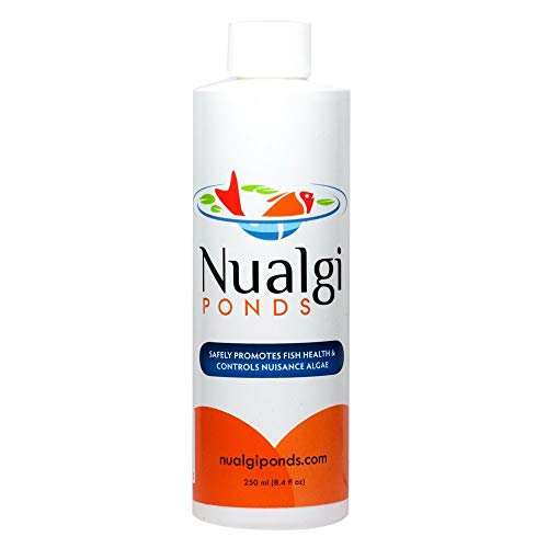 Nualgi Ponds - Natural Algae Control, Water Clarifier & Best Algaecide Alternate - 100% Safe for All Fish, Plants & Animals (1 x 250ml) by Nualgi Ponds