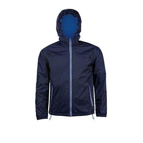 Reale Blu blu Cappuccio Con Vento Giacca A Navy Unisex Impermeabile Skate Sols 8Pw166