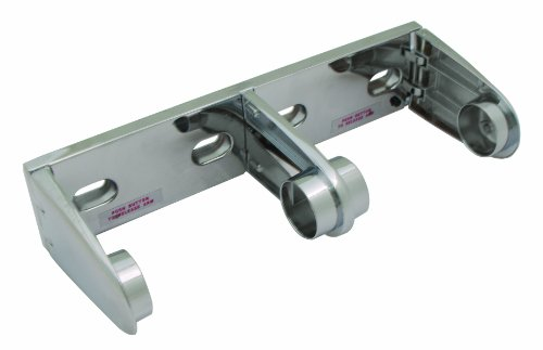 Bradley 522-000000 Die Cast Zinc Tension Spring Control Spindle Less Dual Roll Toilet Tissue Dispenser, 10-1/2