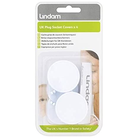 Lindam Safety UK Plug Socket Covers 4 Pack