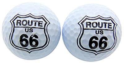 Set of 2 Route 66 Golf Ball Gift Pack Set in Plastic Case