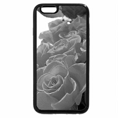 iPhone 6S Case, iPhone 6 Case (Black & White) - Orange Roses for My Friend Luiza