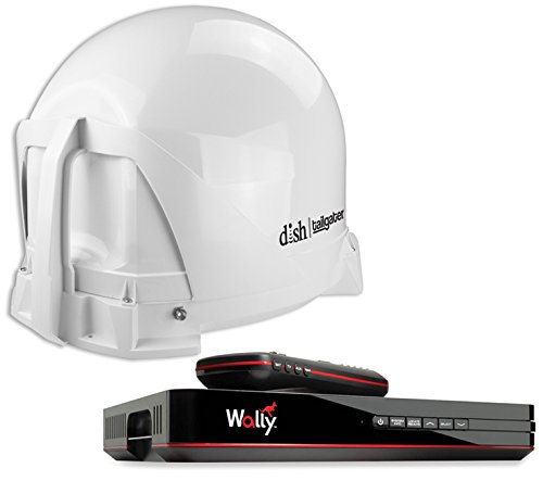DISH VQ4450 Tailgater Bundle - Portable Satellite TV Antenna and DISH Wally HD Receiver