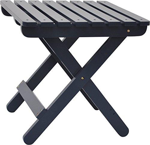 Shine Company Adirondack Square Folding Table, Naval