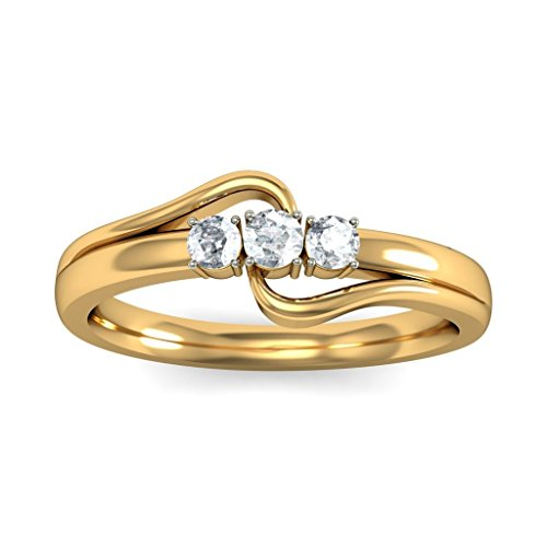 Or jaune 18 K, 0,21 CT TW Diamant Blanc (IJ | SI) en diamant