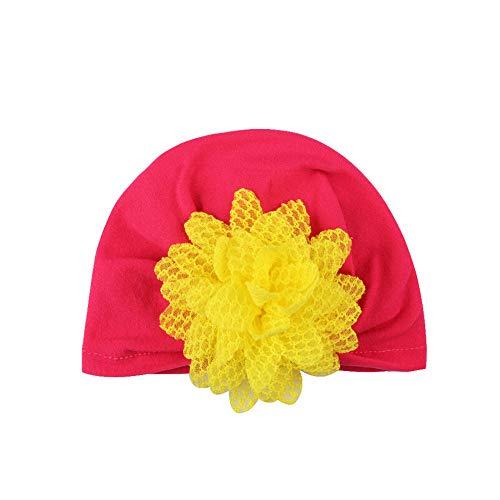 (Clearance,Lovely Newborn Newborn Turban Cotton Beanie Hat Winter Warm Cap (E))