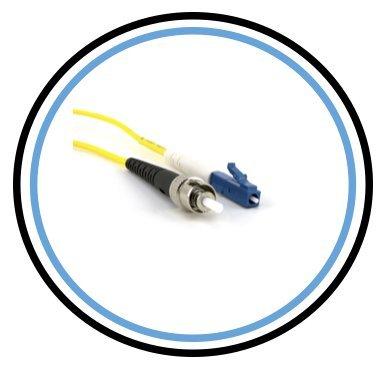 Cable Fibra Optica OS1 3mt LC a ST SIMPLEX 9/125 PACsat