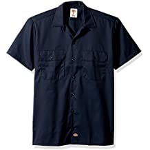 Dickies Men's Short Sleeve Work Shirt Stain & Wrinkle Resistant