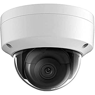 8MP Security POE IP Camera - Outdoor Dome Network Camera, 3840×2160, 98ft Night Vision, (OEM Hikvision Model DS-2CD2185FWD-I), 2.8mm Lens SD Card Slot, H.265+, IP67, IK10