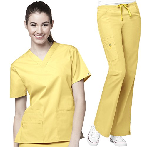 Buy yellow scrub set 3x