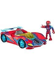 Playskool Heroes Marvel Super Hero Adventures Spider-Man Netto Flitzer, 12 cm groot figuur en voertuigset, kinderen vanaf 3 jaar om te verzamelen