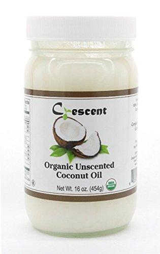 Crescent 100% Organic Virgin Coconut Oil - 16 oz (454g) (Unscented)