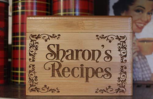 Personalized Custom Recipe Box Wedding, Housewarming Gift