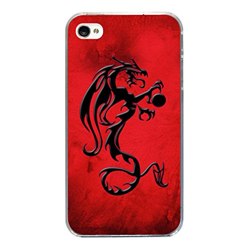 "Disagu Design Case Coque pour Apple iPhone 4s Housse etui coque pochette ""Drachen"""