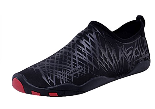 Unisex Deportivos Yoga Zapatos para Natación Descalzo Agua de Zapatos Insun Surf Buceo Rápido de Negro Secado Playa dpBRA0dxwq