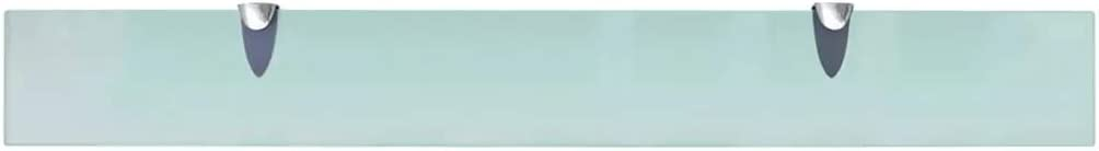 Wakects /Étag/ère en Verre 80 cm 8MM-/Épaisse /Étag/ère Murale en Verre 80 x 10 cm Capacit/é de Charge de 15 kg Rectangulaire