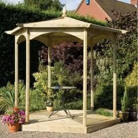De madera diseño de jardín