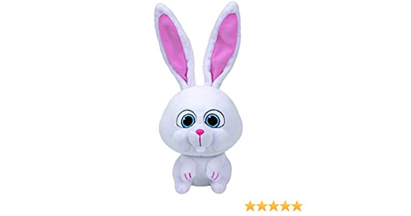 Amazon.com: Ty Beanie Babies Secret Life of Pets Snowball The Bunny Medium Plush: Toys & Games