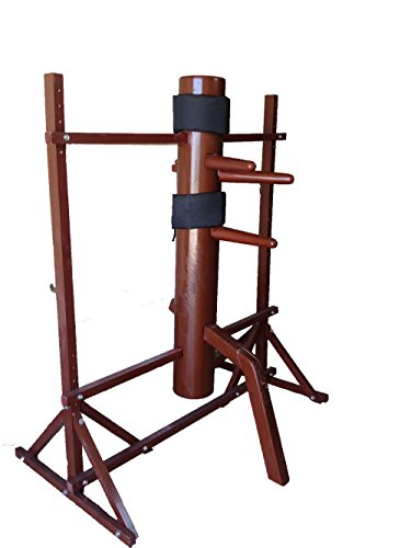 Wing Chun Wooden Dummy Mook Yan Jong - Traditional Ip Man Wooden Dummy with Adjustable Stand